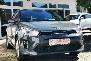 KIA Rio 1,25 MPI Silber ISG bei Auto Meisinger in